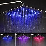 Auralum 12 Zoll Quadratische Duschkopf Regendusche Regenduschkopf Regendusche nickel gebürstet ultra flach
