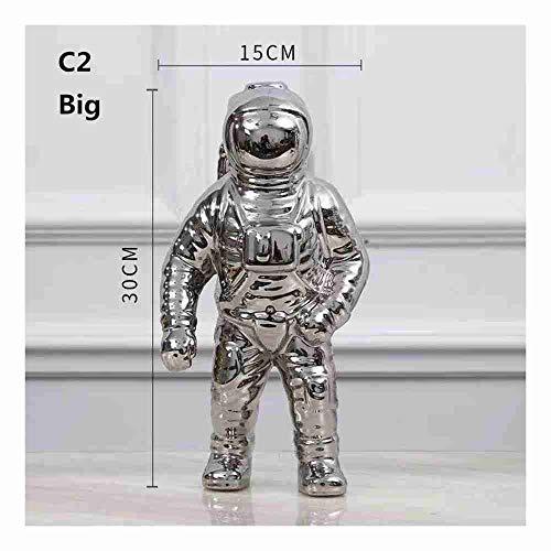 Porzellan Home Decor (XXYDSDM Statue,Kreative Keramik Astronaut Skulptur Moderne Einzigartige Figur Ornamente Handwerk Chinesisches Porzellan Sammlerstücke Geschenk Für Wohnzimmer Schlafzimmer Home Decor)