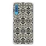 HandyHülle für Samsung Galaxy A7 2018 - Ethnisch Tribaler Hintergrund - 3B®