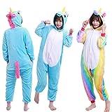 Freebily Unisexe Enfants Pyjama Combinaison À Capuche Mignon Licorne Animaux...