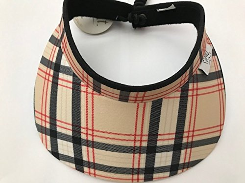 New Ladies Glove IT Burberry Plaid Golf Coil Visor. -