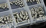 Brandneu Sockel Madenschrauben Sortiment Gewindestifte Set 200 Teile M3-M8 Edelstahl Groupcow