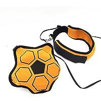 DEtrade Solo Soccer Trainer Soccer Kick Trainer Skills Practice Football Training Belt, naranja