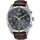 Die besten Pulsar Tauchen Uhren - Pulsar Men's 43mm Brown Leather Band Steel Case Bewertungen