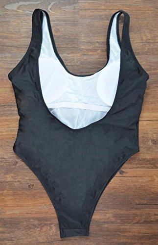 PRIDE S Art- und Weisebadeanzug-Bikini-Drucken-Schwarzes fest-passender Weste-Badeanzug-Badekurort-Badeanzug-Strand-Badeanzug Schwarz