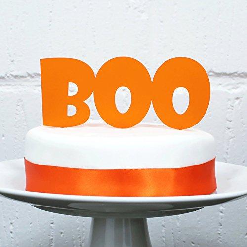 Halloween Cake Topper - BOO Cake Topper - Cake Decoration - Orange Cake Topper - Halloween Decoration - Halloween Decor - Handmade Decor