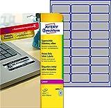 AVERY Zweckform L6011-8 Typenschildetiketten (A4, 216 Etiketten, wetterfest, reißfest, 63,5 x 29,6 mm, 8 Blatt) silber