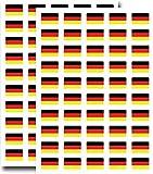 Packung mit 90, 31x20mm, Deutschland-Flaggen-Aufkleber deutschen Selbstklebeetiketten