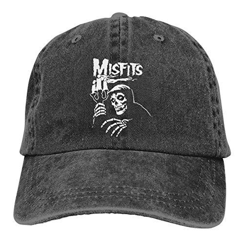 Misfits Gesicht (Basecap Snapback Outdoor Baseball Kappe Jeans Hat Misfits Lightweight Breathable Soft Baseball Cap Sports Cap Adult Trucker Hat Mesh Cap)