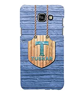 YuBingo Designer Printed Plastic Mobile Back Case Cover Panel for Samsung Galaxy A5 (6) 2016 ( Name Surname Tushar (Wood Finish Printed on Plastic) )