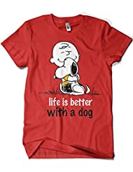1509-Camiseta Snoopy - Life is Better