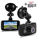 """Senwow Dash Cam (16GB Card Included) 1080P Full HD Car Camera 2.7"""" LCD Driving Video Recorder Dashboard DVR Built In G-Sensor, Loop Recording, Night Vision, Parking Monitor, Motion Detection, WDR"""