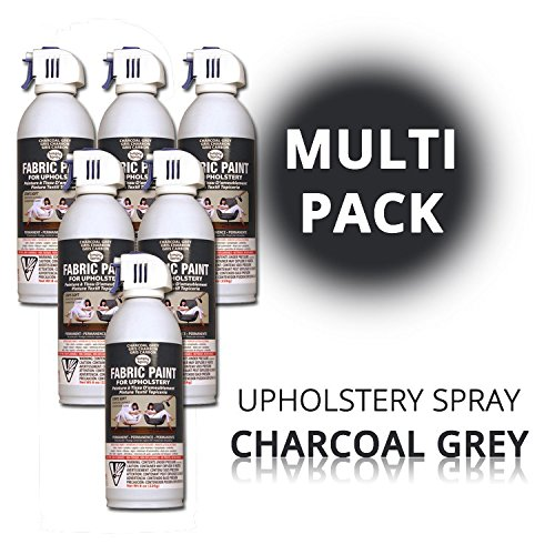 Polster-spray Textilfarbe (SimplySpray - Upholstery Spray Charcoal Grey - Textilfarbe Grau (Multipack))