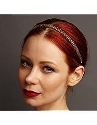 Chaîne Bandeau Or Or Bandeau cheveux tête bande de demoiselle d\u0027honneur Accessoires  cheveux headband Bandeau Serre,tête.