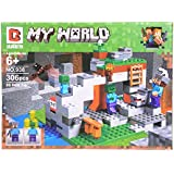 Montez 938 306pcs 406 Pcs Classic Mine Craft Model Building 3D Block Set Learning And Educational Toy For Kids