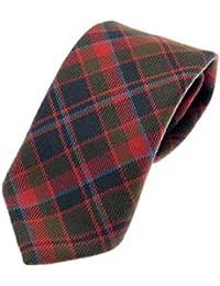 100% Reiver Wool Buchan Weathered Tartan Tie & Gift Wrap - Made in Scotland