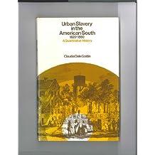 Urban Slavery in the American South, 1820-60: A Quantitative History