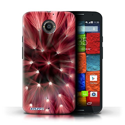 Kobalt® Imprimé Etui / Coque pour Motorola Moto X (2014) / Vert conception / Série Couleur/Lumière Fleur Rouge