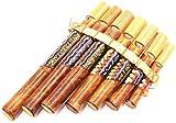 Flauta de Pan de bambú, instrumento de música, de madera, artesanal, zampoña de Bambú,...