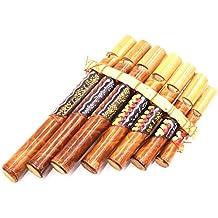 Flauta de Pan de bambú, instrumento de música, de madera, artesanal, zampoña de Bambú, flauta de Pan, Flauta de Pan