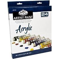 Royal & Langnickel - Pintura acrílica (21 ml, 24 unidades), multicolor