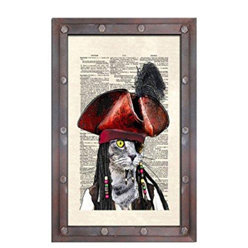 er Zeichen Retro Vintage Holz Sprarrow Pirat Schatz ()