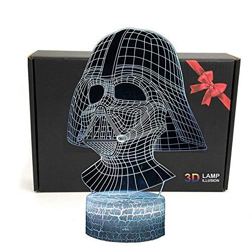lusions Lampe, Star Wars 7 Farben Touch-Schalter Illusion Nachtlicht Für Geburtstag Weihnachten Valentine Geschenk ()