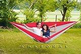 Amazonas Silk Traveller - Amaca XXL, fino a 200 kg, colore: rosso/grigio