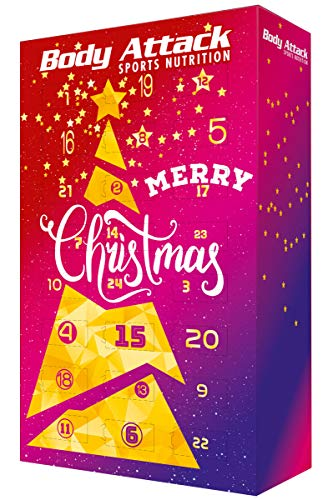 Body Attack Sports Nutrition Original FITNESS - ADVENTSKALENDER 2019 - Protein- und Fitnessriegel