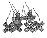 Haarnadeln mit Strass Braut Kommunion Kreuz Packung 7Stück