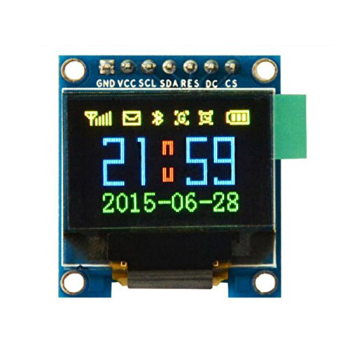 Ils - 0.95 inch 7pin Full Color 65K Color SSD1331 SPI OLED Display for Arduino Full-color-display