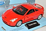 Welly Toyota Celica Coupe Rot T23 1999-2005 ca 1/43 1/36-1/46 Modell Auto