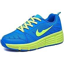 Zapatillas con ruedas automáticas para niños - Azul / verde - Varias tallas
