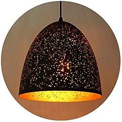 Maxmer Lámpara de Techo Luz Vintage Colgante Industrial Estilo Nórdico, E27 Casquillo, Color Negro