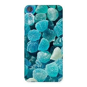 Cute Bluish Gem Print Back Case Cover for HTC Desire 820s