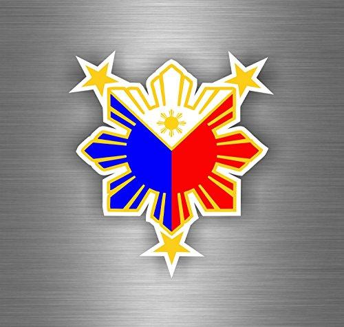 Preisvergleich Produktbild Sticker Selbstklebend Flagge Philippinen Auto Moto Zeitzeuge Soleil Tuning Auto