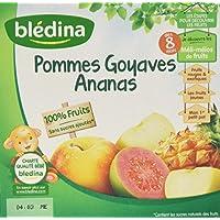 Blédina Coupelles Pommes Goyaves Ananas dès 8 mois 4 x 100 g - Lot de 6