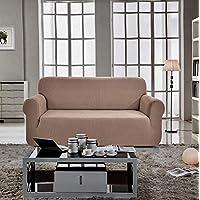 Home Decor,Sofa Cover Seater for Three,Caramel Color