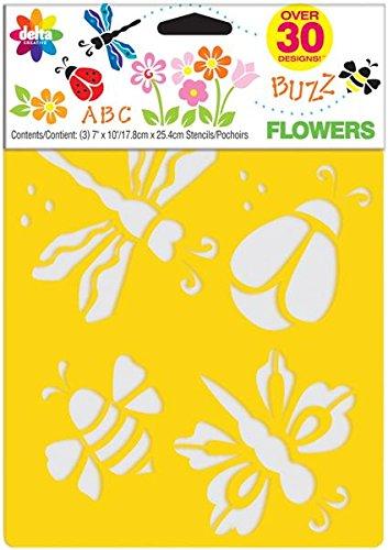stencil-mania-stencils-7x10-3-pkg-flowers