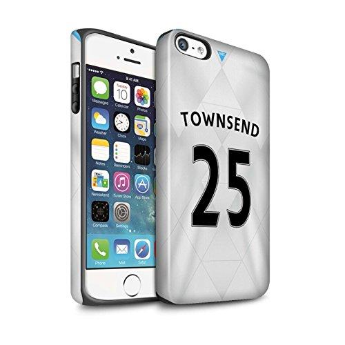 Offiziell Newcastle United FC Hülle / Matte Harten Stoßfest Case für Apple iPhone SE / Rivière Muster / NUFC Trikot Away 15/16 Kollektion Townsend