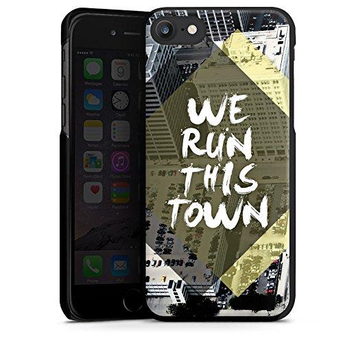 Apple iPhone X Silikon Hülle Case Schutzhülle Stadt Sprüche Statements Hard Case schwarz