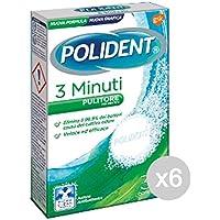Set 6 POLIDENT 36 Tablettes 3 Minutes Dentier Hygiène Et Soins Des Dents