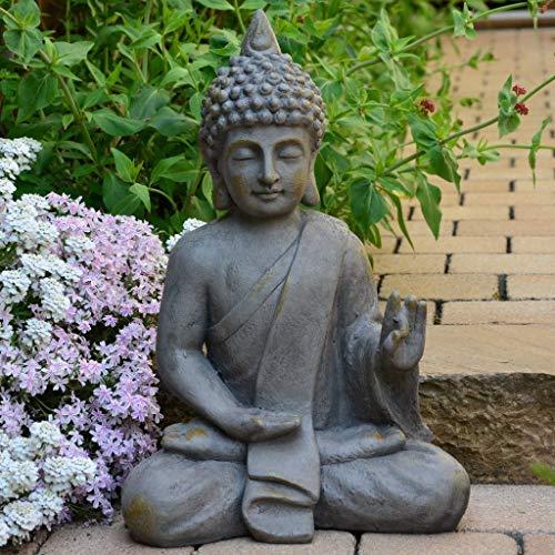 Stein Buddha Antik massiv Steinfigur - 2