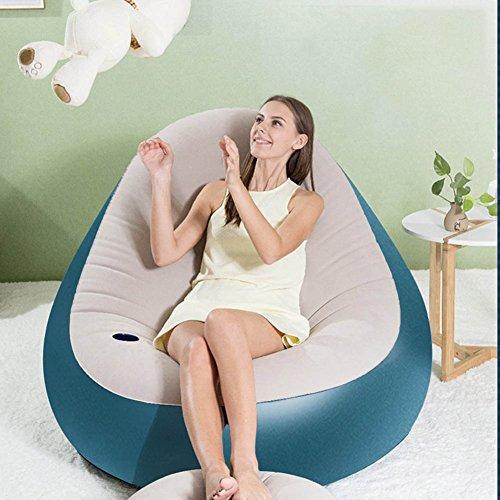 Z&HX Sofa aufblasbar Müßig Notebook-Strand nur espesar Tasche Multifunktion Faltbar Schlafsofa Sofa-Betten und Schlafen Sofa blau (Blue5) -