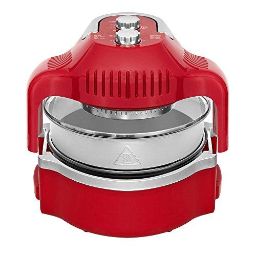 Cooklite-aero-Fryer-Aerofryerro-b2b-Heiluft-Fritteuse-ohne-l-mit-Technologie-Cook-Light-dreifach-Kochfeld-Rot