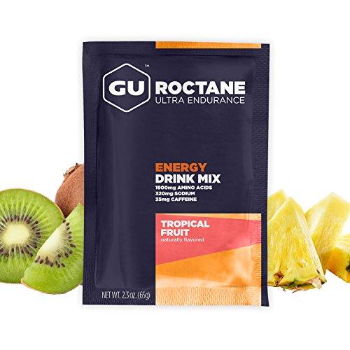 GU Roctane Energy Drink Mix, 10 Count Box, Tropical Fruit