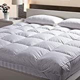 Jaipur Linen 3000 GSM Queen Size Bed Finest Imported Super Microfiber Mattress Padding/Topper-White