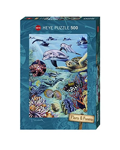 Preisvergleich Produktbild Heye 29623 - Marion Wieczorek, Flora and Fauna Tropical Waters, 500 Teile Standardpuzzle