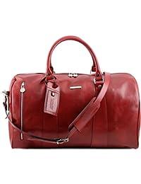 Tuscany Leather - TL Voyager - Sac de voyage en cuir - Petit modèle - Rouge