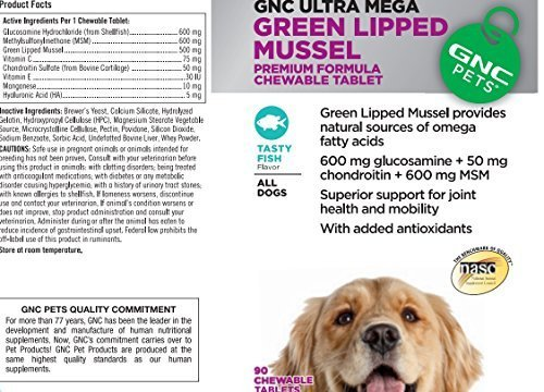 gnc-ultra-mega-green-lipped-mussel-for-all-dogs-fish-90-chewable-tabs-by-gnc-pets